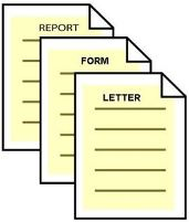 forms reports letters