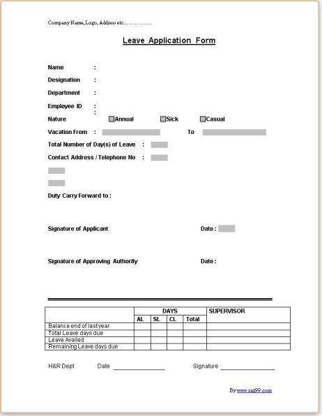 Leave application form freelance front end developer web designer leave application form thecheapjerseys Choice Image