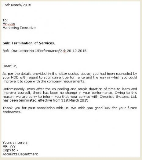 end of employment letter